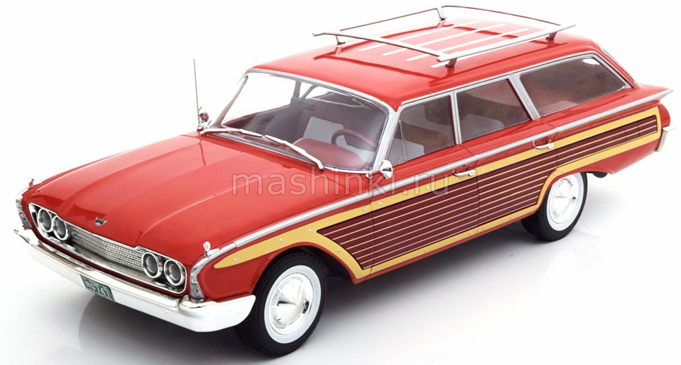 MCG18074 14+ MODEL CAR GROUP (MCG) MCG 1/18 FORD Country Squire (с багажником) 1960 red/wood